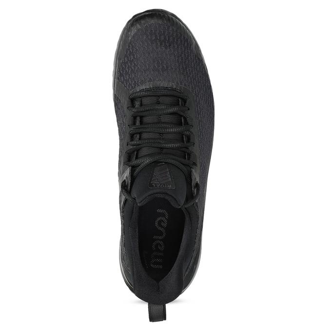 Pánske čierne tenisky s vykrojením nike, čierna, 809-2105 - 17