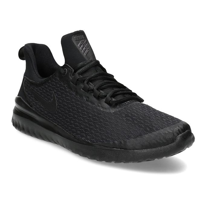 Pánske čierne tenisky s vykrojením nike, čierna, 809-2105 - 13