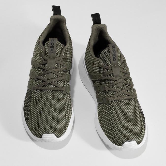 Pánske zelené tenisky v športovom štýle adidas, zelená, 809-7218 - 16
