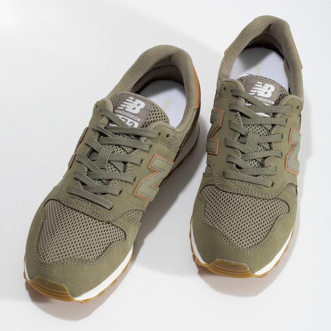 Zelené pánske tenisky z brúsenej kože new-balance, zelená, 803-7100 - 16