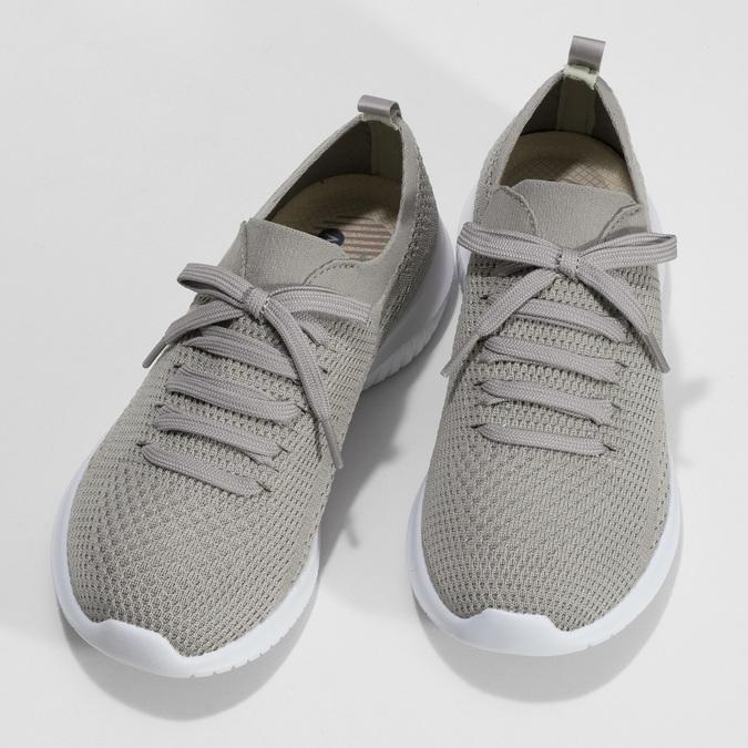 Dámske tenisky v pletenom štýle skechers, šedá, 509-3105 - 16