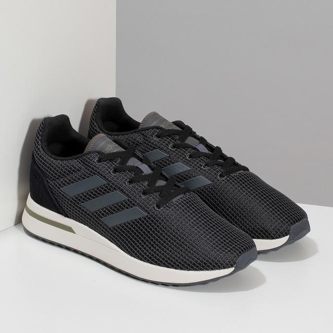Pánske čierne tenisky všportovom štýle adidas, čierna, 809-6209 - 26
