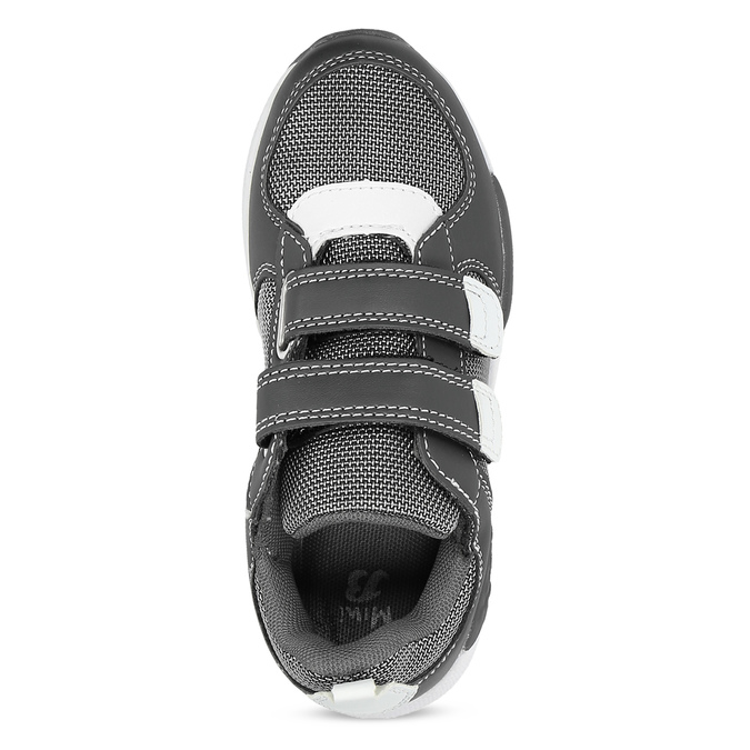 Šedé tenisky na suchý zips detské mini-b, šedá, 319-2163 - 17