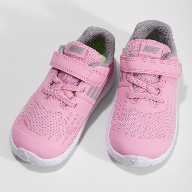 Svetloružové športové detské tenisky nike, ružová, 109-5259 - 16