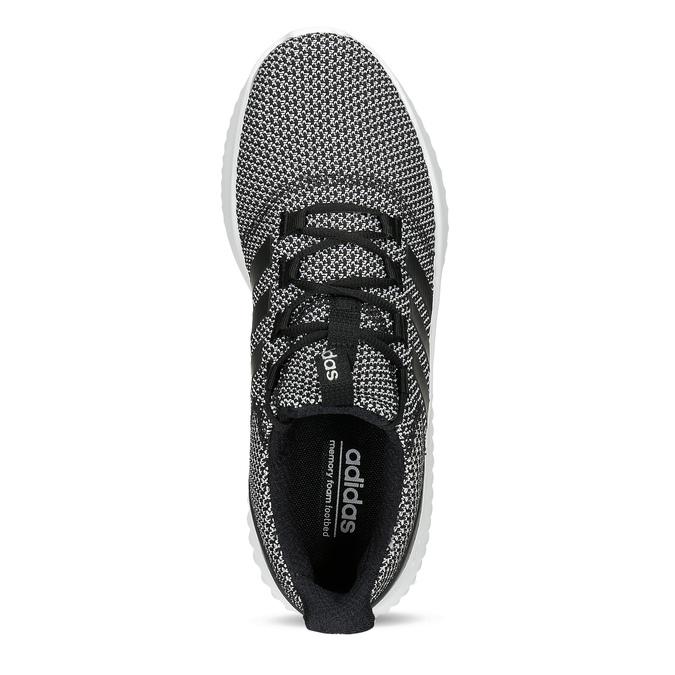 Čiernobiele pánske tenisky s výraznou podrážkou adidas, čierna, 809-6304 - 17