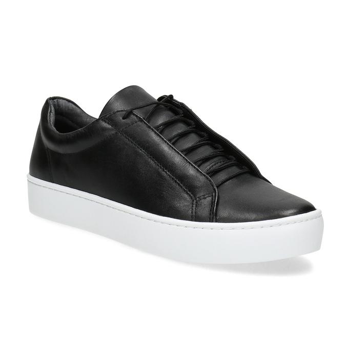 Čierne kožené tenisky vagabond, čierna, 624-6014 - 13