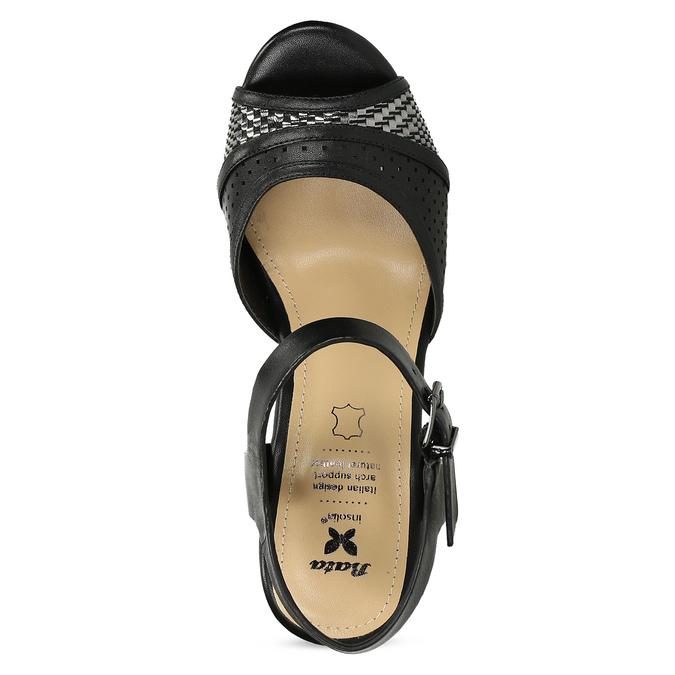 Dámske čierne sandále na prírodnej platforme insolia, čierna, 761-6645 - 17