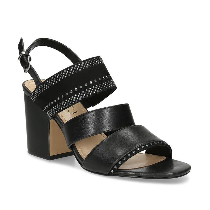 cacd880f3580 Insolia Čierne sandále s kamienkami a stabilným podpätkom - Všetky ...