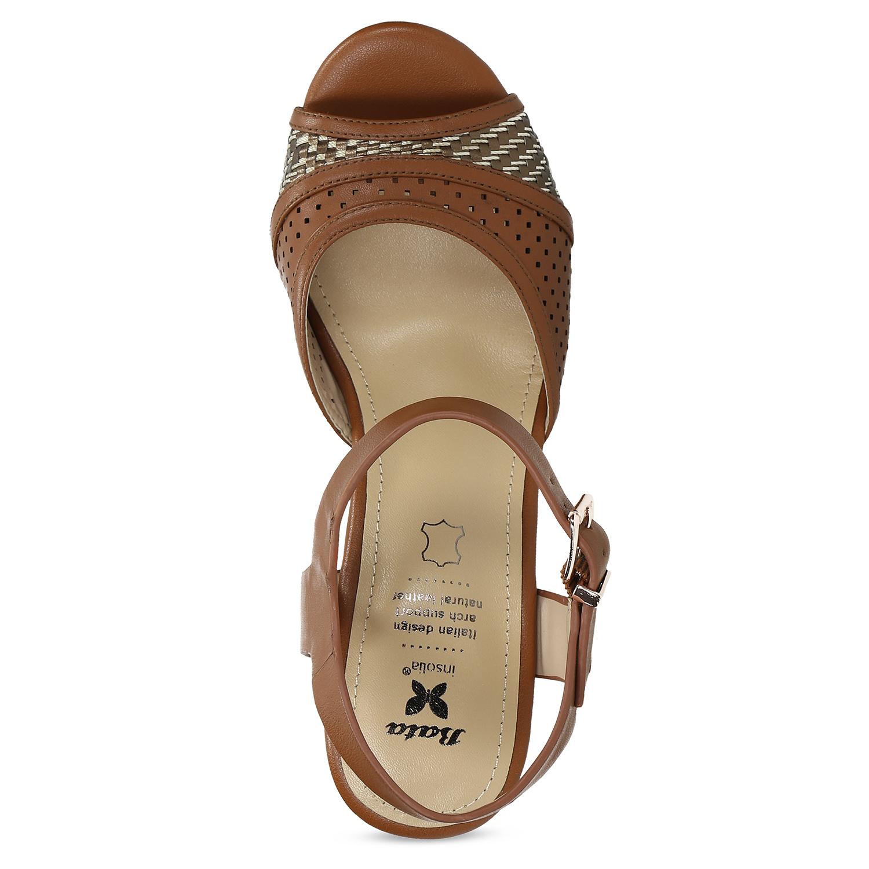 e147ab19f ... Dámske hnedé sandále na stabilnom podpätku insolia, hnedá, 761-3645 -  17 ...