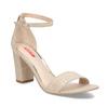Béžové dámske sandále na stabilnom podpätku bata-red-label, béžová, 769-8641 - 13
