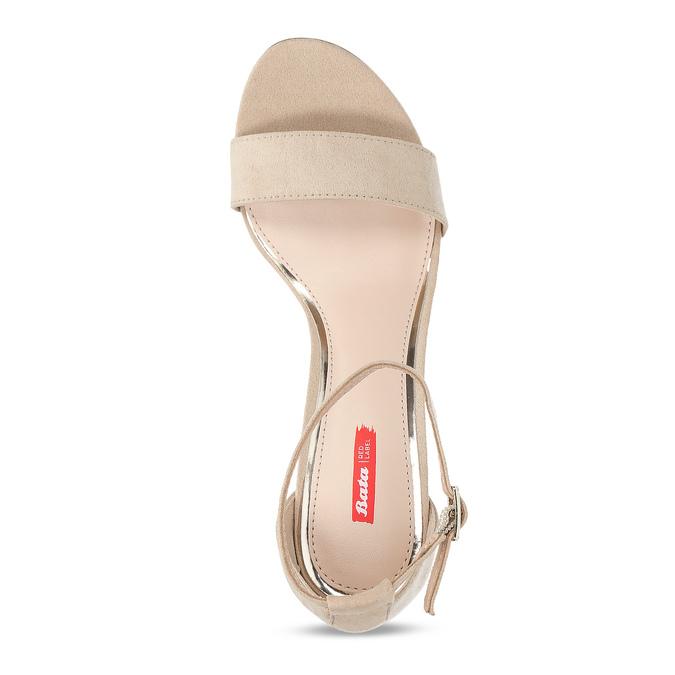 Béžové dámske sandále na stabilnom podpätku bata-red-label, béžová, 769-8641 - 17