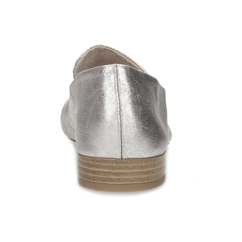 5946a458a9e37 ... Dámske strieborné kožené mokasíny bata, strieborná, 518-5605 - 15 ...
