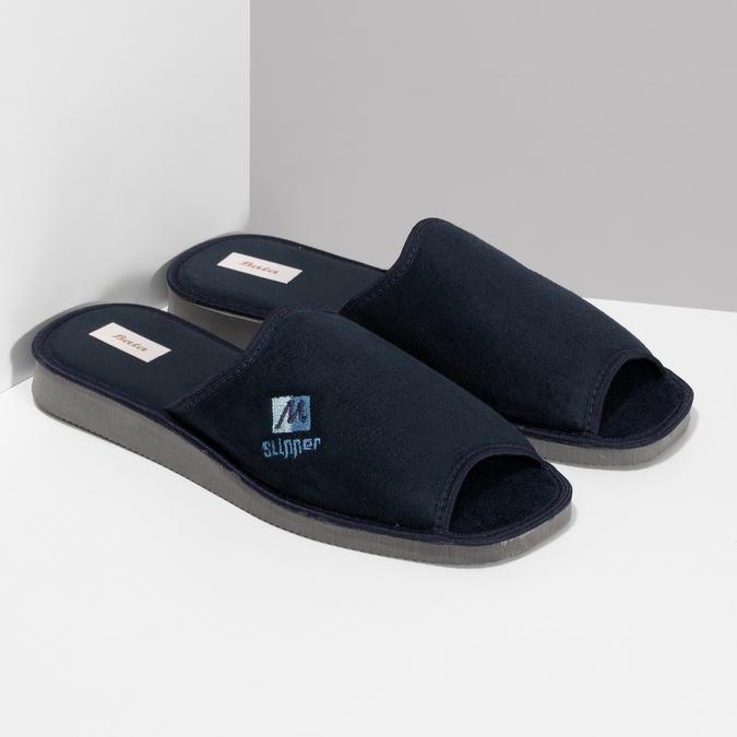 Pánska domáca obuv bata, modrá, 879-9606 - 26