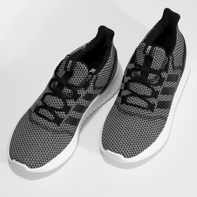 Čiernobiele pánske tenisky s výraznou podrážkou adidas, čierna, 809-6304 - 16