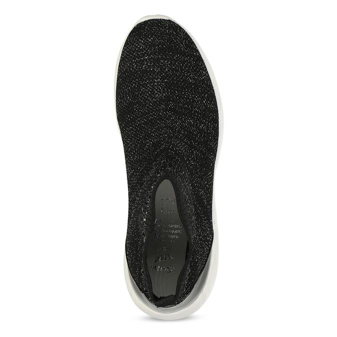 Čierna členková dámska obuv s kamienkami bata-light, čierna, 599-6628 - 17