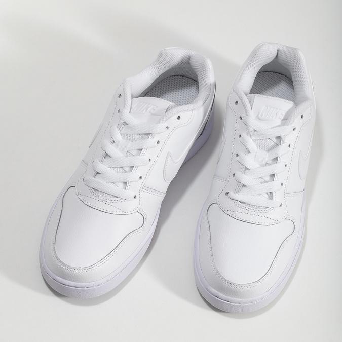 Biele pánske ležérne tenisky s prešitím nike, biela, 801-1124 - 16