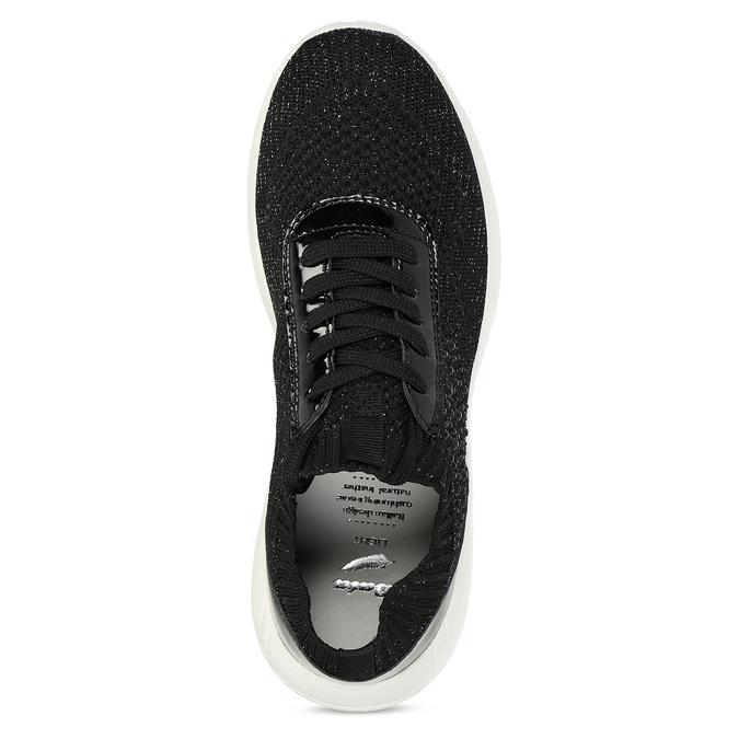Čierne dámske tenisky z úpletu bata-light, čierna, 549-6615 - 17