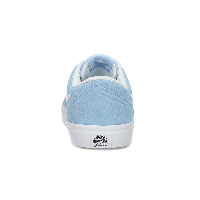 Svetlomodré kožené tenisky nike, modrá, 503-9102 - 15