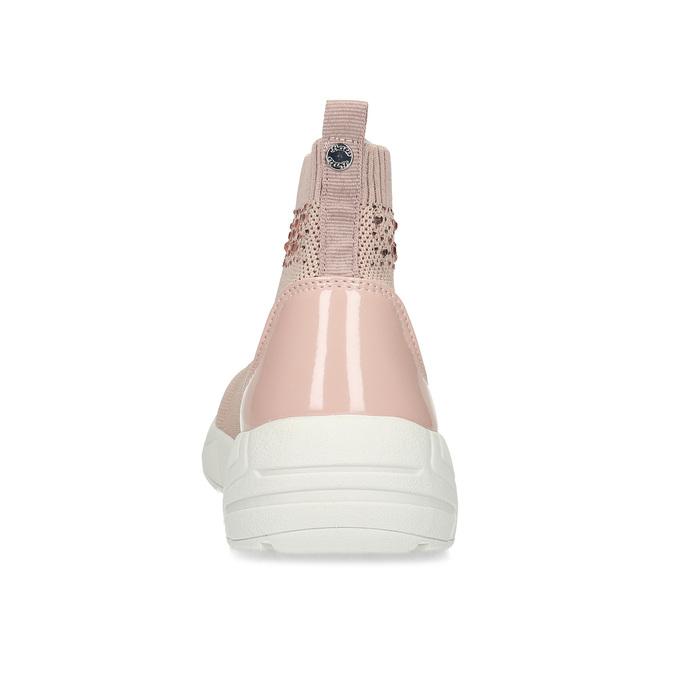 Dámske členkové tenisky ružové bata-light, ružová, 599-5628 - 15