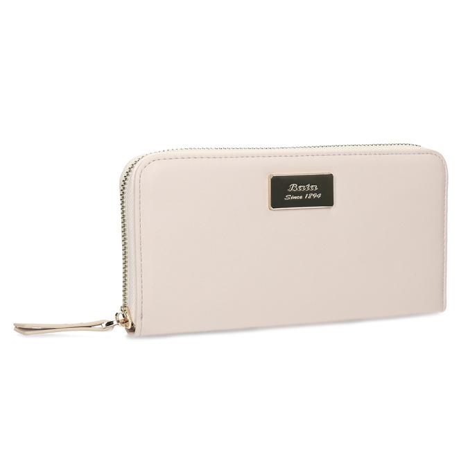 067427888 Béžová dámska peňaženka bata, ružová, 941-8323 - 13