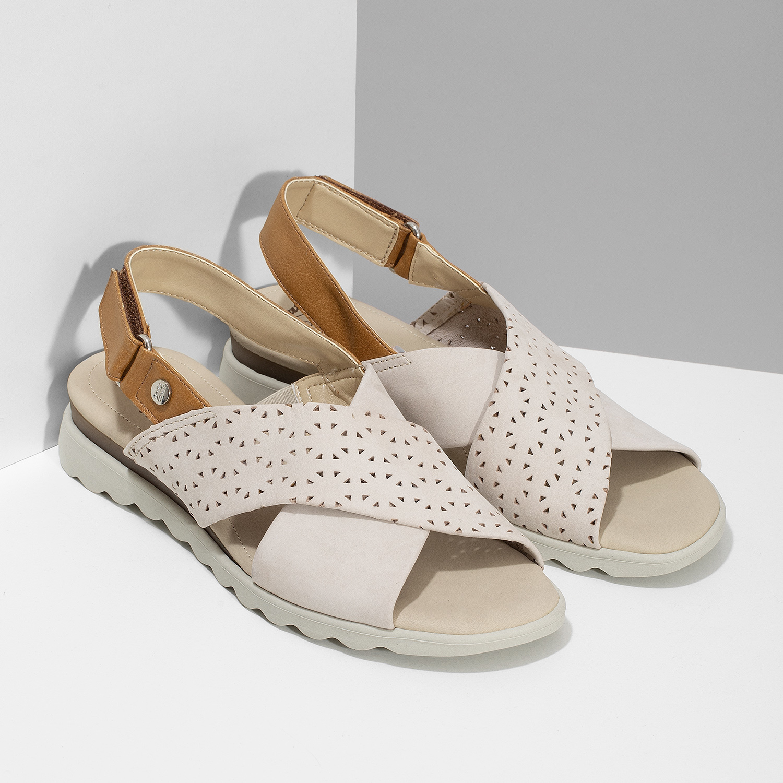 95c2954aea92 Comfit Béžové dámske kožené sandále s perforáciou - Comfit
