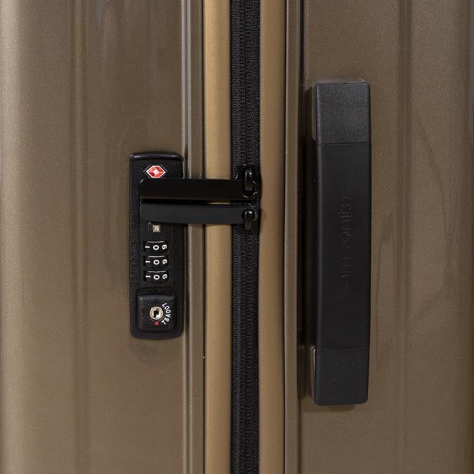 Cestovný zlatý škrupinový kufor samsonite, zlatá, 960-8023 - 16