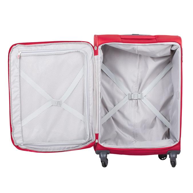 Červený stredný textilný kufor samsonite, červená, 960-5039 - 17