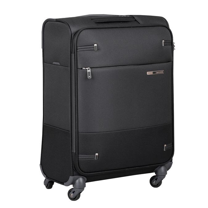 Čierny kvalitný textilný kufor samsonite, čierna, 960-6037 - 13