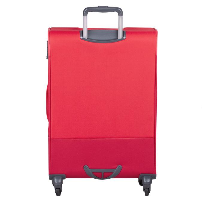 Červený stredný textilný kufor samsonite, červená, 960-5039 - 26