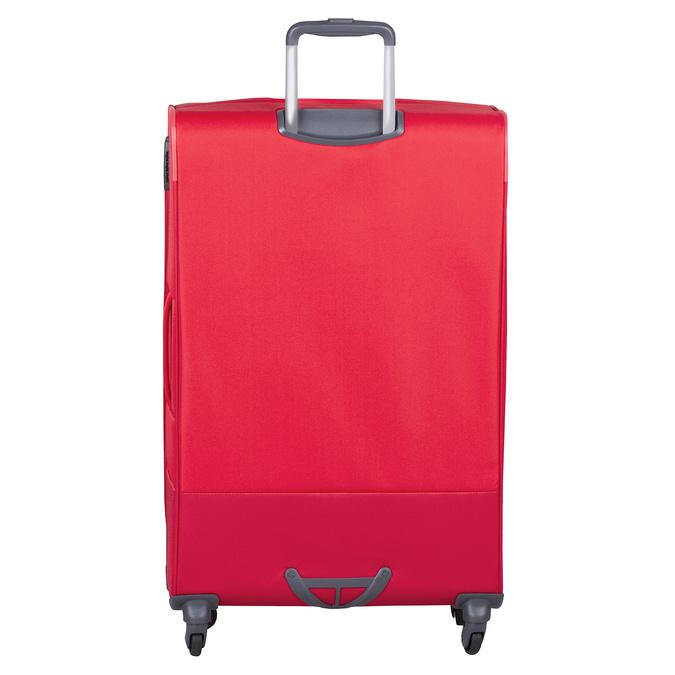 Veľký červený textilný kufor samsonite, červená, 960-5041 - 26