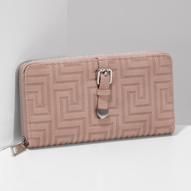 ba367601a ... Ružová dámska peňaženka s prackou bata, ružová, 949-5615 - 17