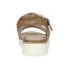 Dámske kožené sandále na svetlej podrážke flexible, hnedá, 563-4601 - 15