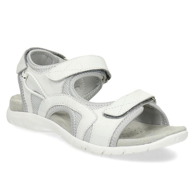 87322f360 Kožené dámske sandále na suchý zips weinbrenner, biela, 564-1606 - 13
