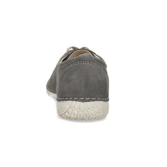 Dámske ležérne kožené poltopánky weinbrenner, šedá, 546-2602 - 15