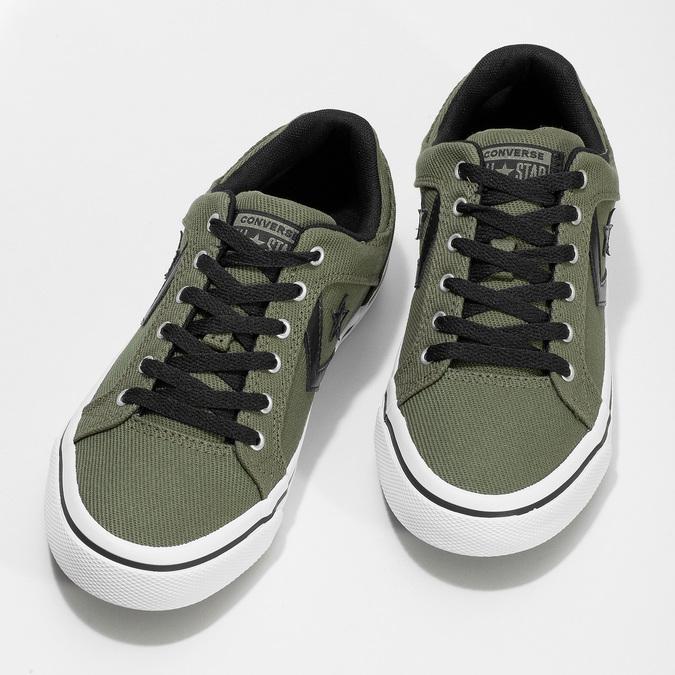 Pánske khaki tenisky converse, zelená, 889-7259 - 16