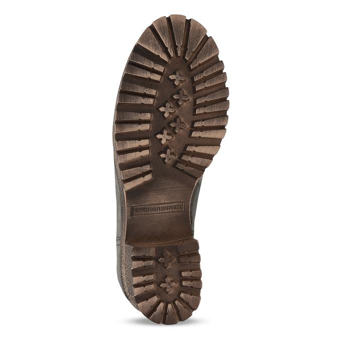 Šedá dámska kožená zimná obuv so zateplením weinbrenner, šedá, 696-2168 - 18