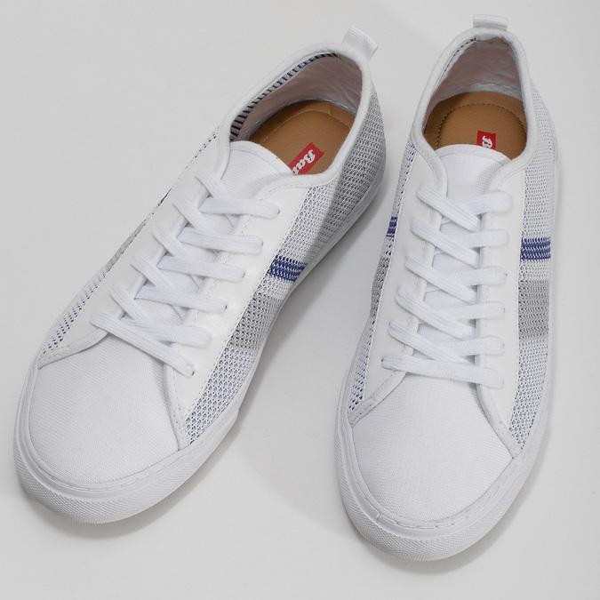 Bielo-modré priedušné tenisky bata-red-label, biela, 849-1601 - 16