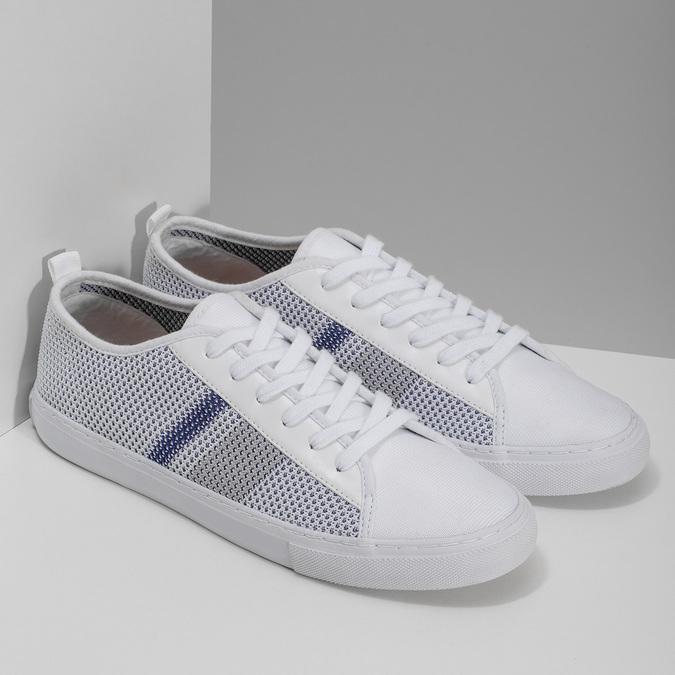 Bielo-modré priedušné tenisky bata-red-label, biela, 849-1601 - 26