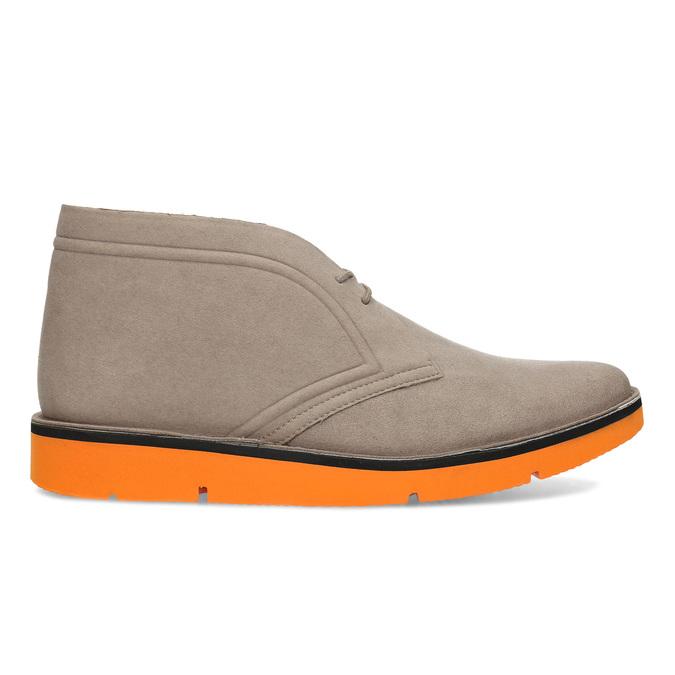 Členková pánska obuv s oranžovou podrážkou bata-b-flex, šedá, 899-8600 - 19