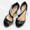 Kožené čierne sandále s asymetrickým remienkom insolia, čierna, 764-6600 - 16