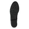 Kožené dámske čižmy s prackami bata, čierna, 594-6665 - 18