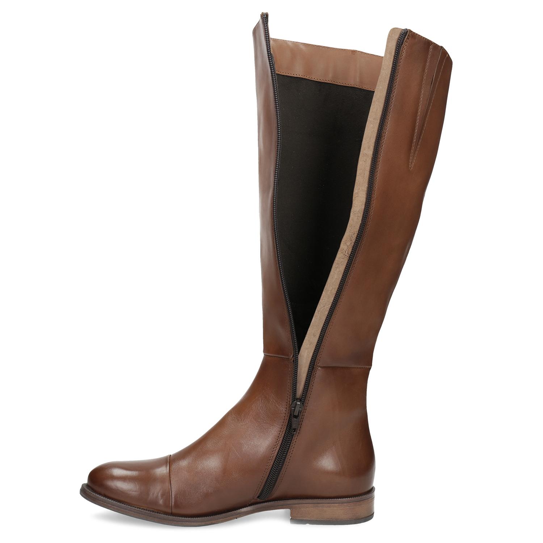 20432e9007 Bata Hnedé kožené čižmy - Všetky topánky
