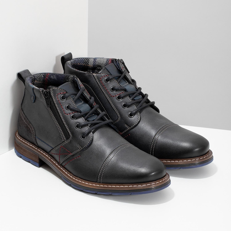 280df274092 Baťa Pánska kožená členková obuv so zipsom - Zimná obuv