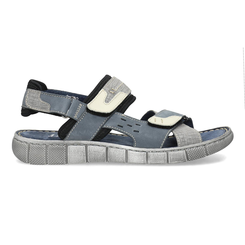 f07e99f6476d Baťa Modré kožené pánske sandále na suchý zips - Najpredávanejšie ...
