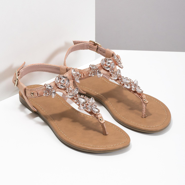 0a2f2be509e05 ... Dámske sandále s kamienkami bata, ružová, 561-5612 - 26 ...
