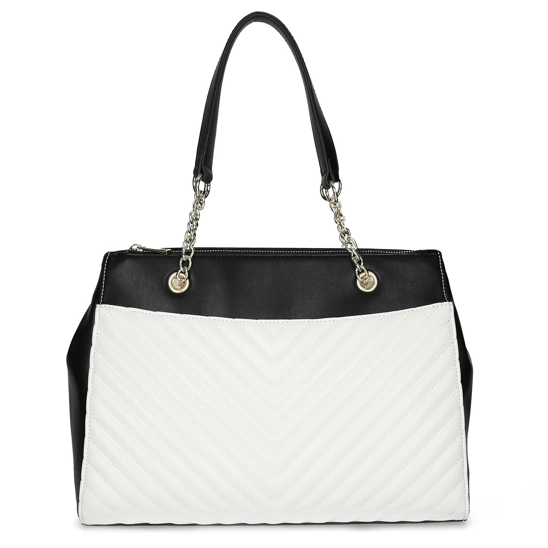 b7daf84a5 ... Čierno-biela kabelka s prešívaním bata-red-label, viacfarebné, 961- ...