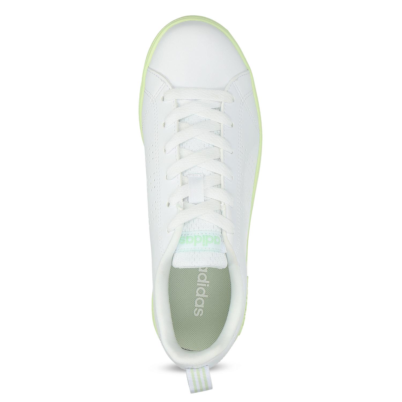... Dámske biele tenisky so zelenou podrážkou adidas d5ebb1ecb65
