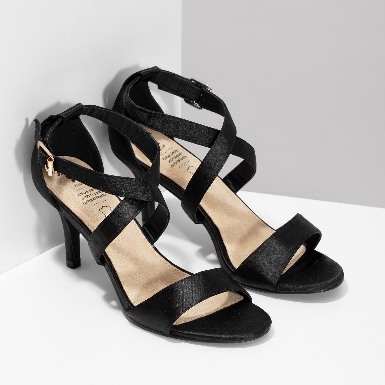 61a17726f ... Čierne sandále na ihličkovom podpätku insolia, čierna, 729-6633 - 26 ...