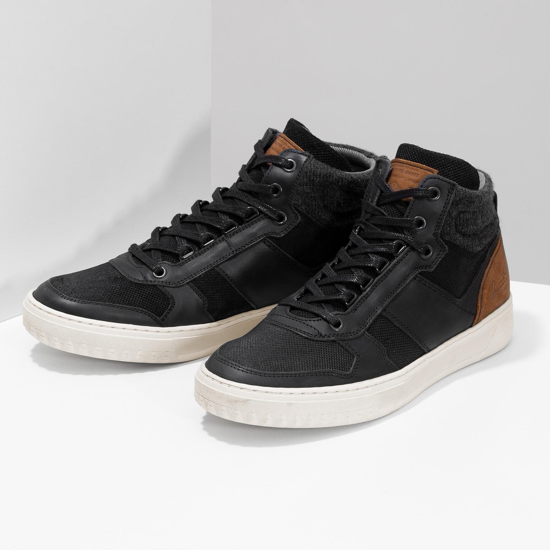 371144678016c ... Čierne členkové pánske tenisky bata, čierna, 846-6722 - 16 ...