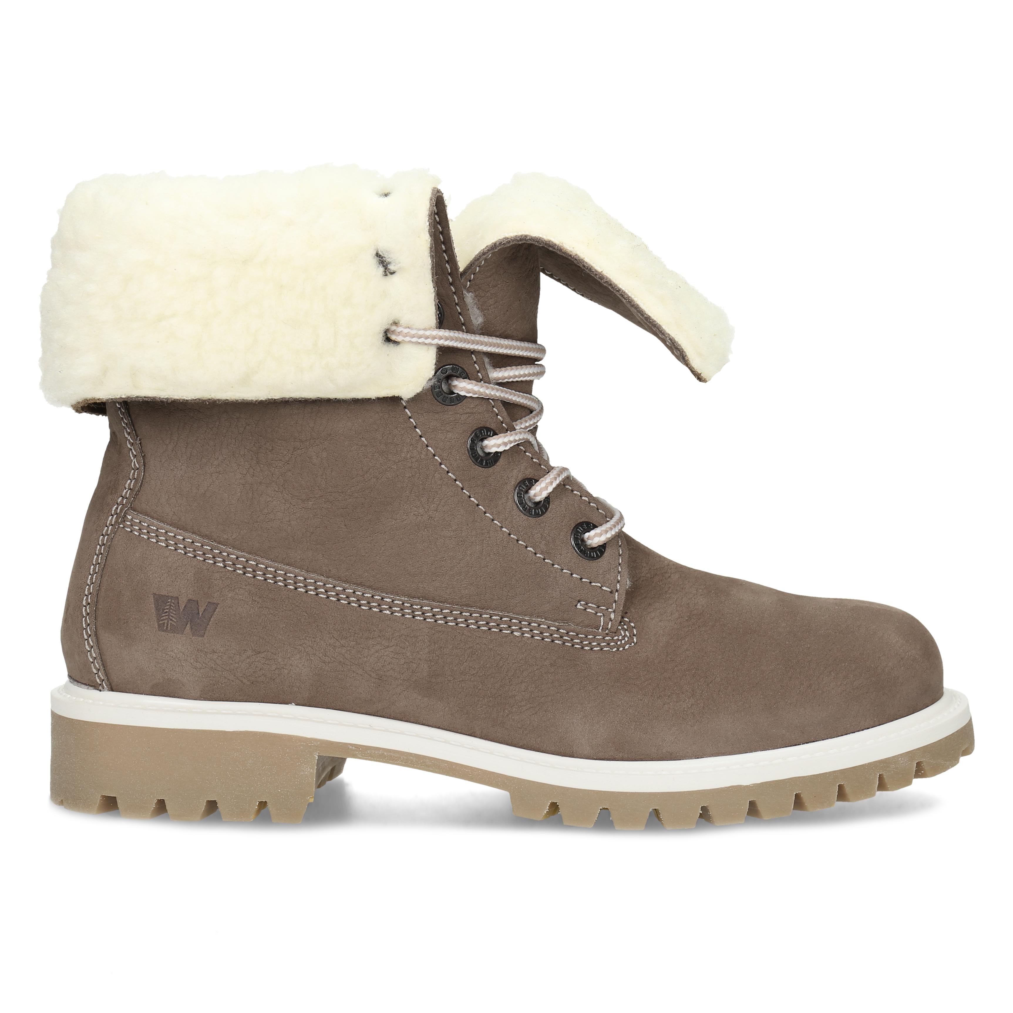 ac691c00d1 Weinbrenner Hnedá dámska kožená zimná obuv - Bez podpätku